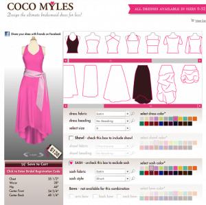 Kleider für Brautjungfern selbst designen
