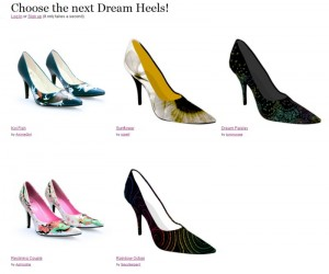 Screenshot einer Dream Heels Abstimmung