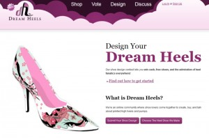 Screenshot der Dream Heels Webseite