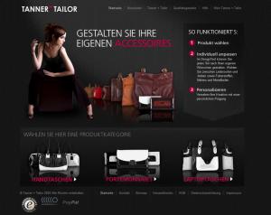 Webseite von Tanner & Tailor