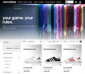 Schuhe selbst designen bei mi Adidas