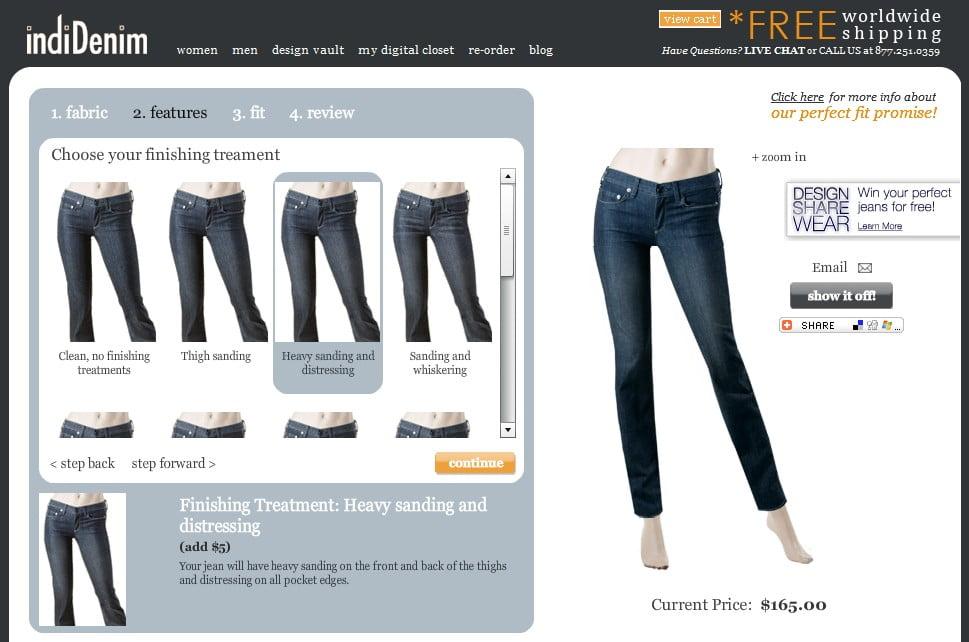 indiDenim DesignTool für individuelle Jeans offline