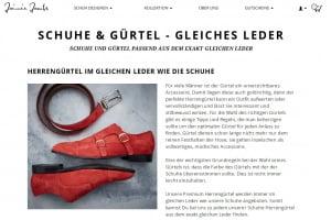 Passende Gürtel zu Schuhen selbst designen