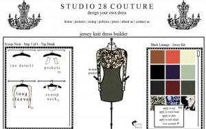 Screenshot des Studio 28 Couture DesignTools