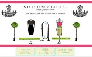 Screenshot der Startseite von Studio 28 Couture