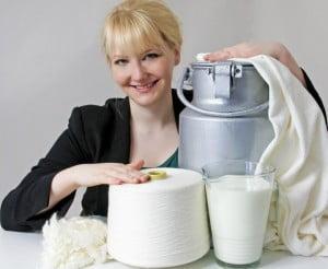 Qmilch Bio-Milchfasern