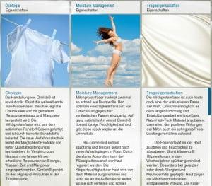 Eigenschaften der Bio-Milchfasern von Qmilch