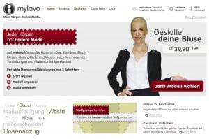 Screenshot des mylavo Onlineshops