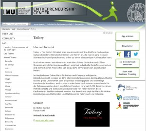 Tailory LMU Entrepreneurship