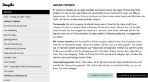 Douglas Gratis Proben