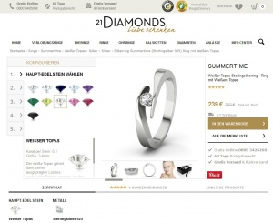 21Diamonds: Diamantringe selber gestalten