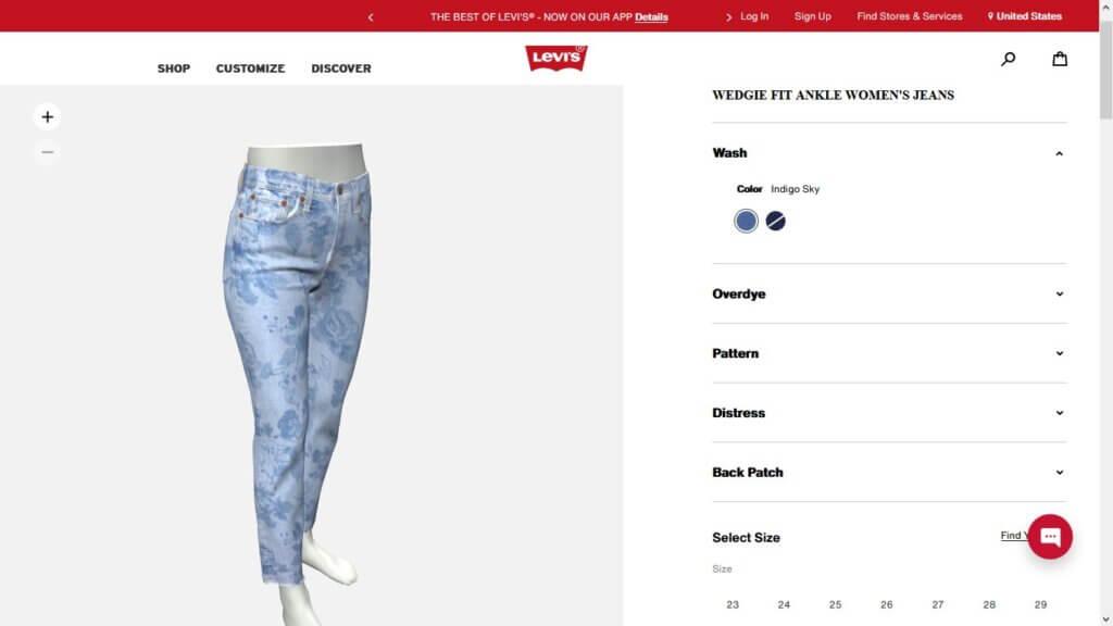 Levi's® Jeans Design Tool